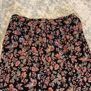 ⭐️ 2/$40 ⭐️ Black and Pink Floral Midi Skirt